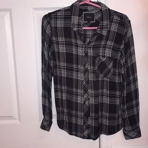 NWOT Rails black and white long sleeve button down